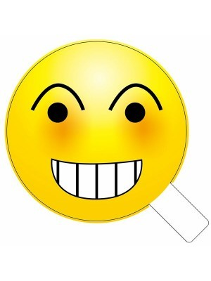 Naughty Looking Emoji Photo Booth Prop