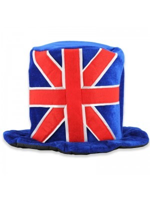 Union Jack Hat - One Size, Red White and Blue Felt Hat