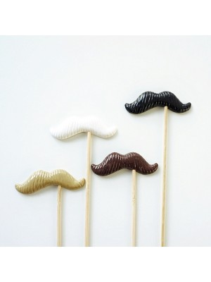 Set of 4 Quality Funny Petit Handlebar Moustaches