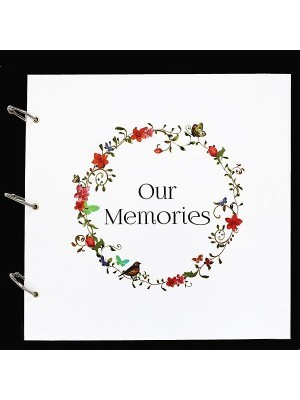 Large White 'Our Memories' Guestbook