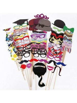 Pack Of 76 Card Photo Booth Props On Sticks