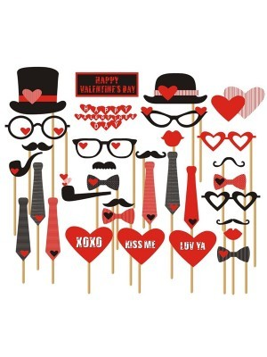 Pack Of 33 Valentines Day Props On Sticks