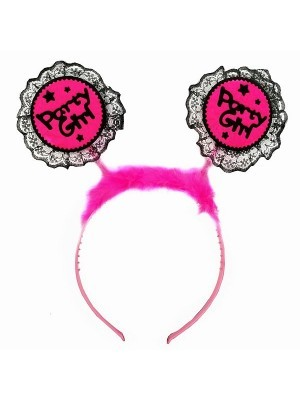 Lace 'Party Girl' Dark Pink Headband