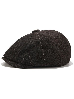Peaky Shelby Baker Boy Flat Cap – Black Tweed