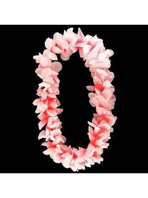 Light Pink Hawaiian Flowered Party Lei