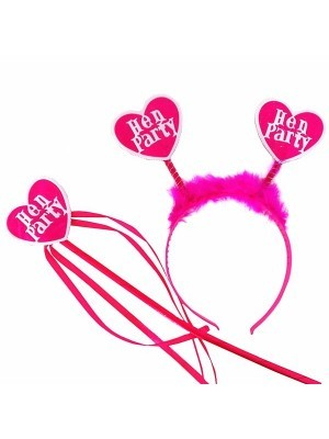 Pink Heart 'Hen Party' Hen Night Set