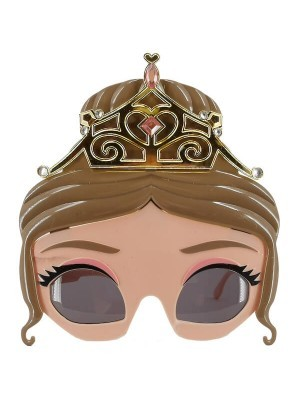 Pretty Eyelash with Gold Tiara Princess Glasses