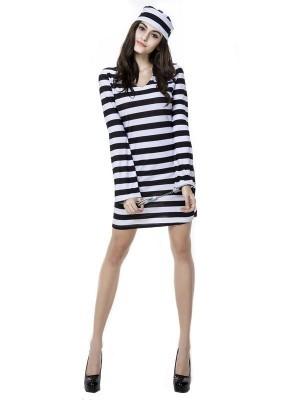 Female Prisoner Fancy Dress Costume