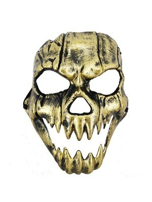 Evil Pumpkin Jack O'Skeleton Style Face Mask Halloween Fancy Dress Costume