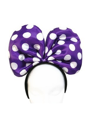 Large Mouse Style Purple Dot Bow