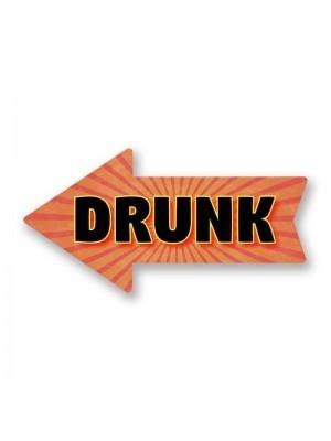 'Drunk'  PVC Arrow Word Board Photo Booth Prop