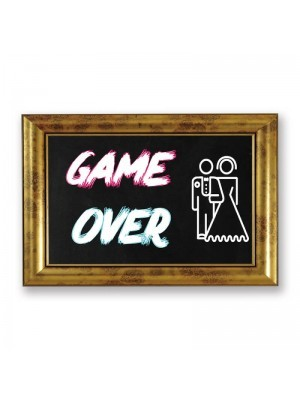 'Game Over' PVC Arrow Word Board Photo Booth Prop