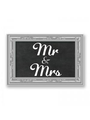 'Mr & Mrs' PVC Arrow Word Board Photo Booth Prop