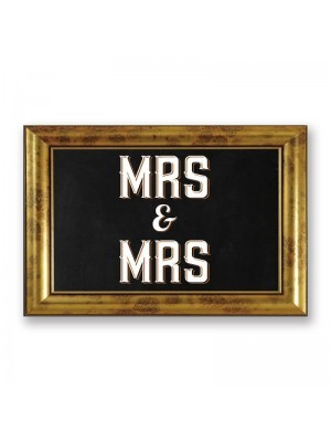 'Mrs & Mrs'  PVC Arrow Word Board Photo Booth Prop
