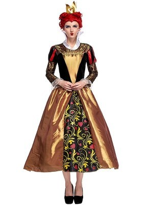 Classic Royal Red Queen Fancy Dress Costume