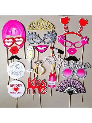 Ready Made Burlesque Hen Party Props On Sticks