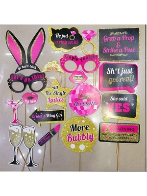 Ready Made Glitter Hen Party Props On Sticks