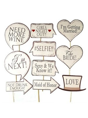 Ready Made Shabby Chic Wedding Props On Sticks