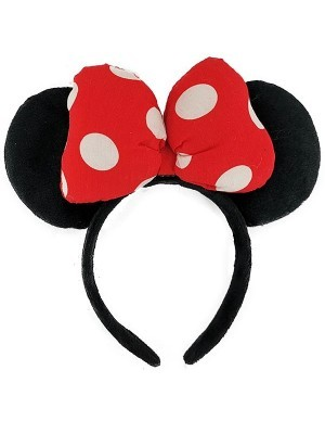 3D Red Spotty Bow Mouse Ears