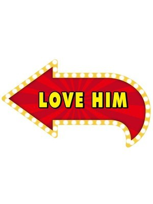'Love Him' Valentine Vegas Showtime Style Photo Booth Prop