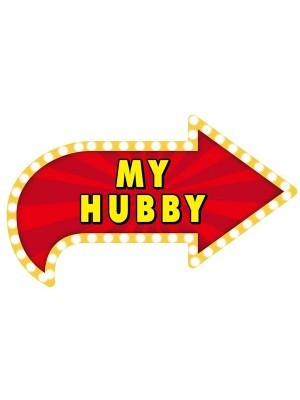 'My Hubby' Vegas Showtime Style Photo Booth Prop