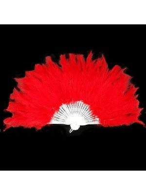 Stunning Red Feather Fan