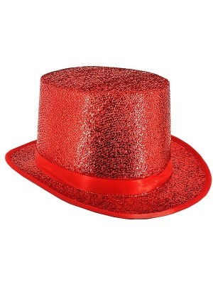 Red Glitzy Top Hat