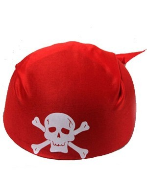 Pirate Skull and Crossbones Bandanna Hat – Red