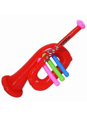 Inflatable Red Trumpet