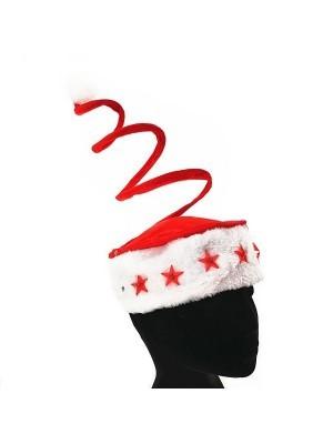 Light up Santa Spring Christmas Hat With Stars