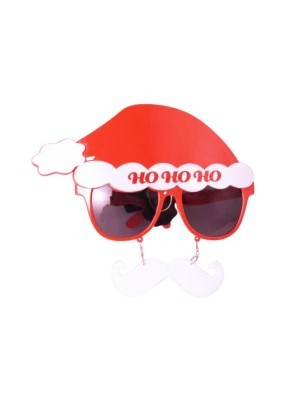 Ho Ho Ho Santa Claus With White Moustache Christmas Glasses