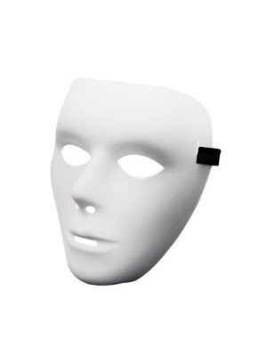 Scary White Faceless Horror Mask