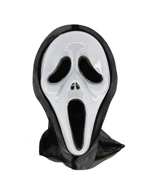 Screaming Ghostly Grim Reaper Style Head Mask Halloween Fancy Dress Costume