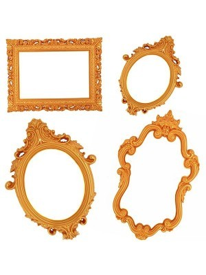 Set of 4 Golden Antique Style Posing Frames