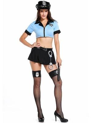 Sexy Policewoman Fancy Dress Costume