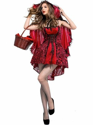 Sexy Lace Little Red Fancy Dress Costume