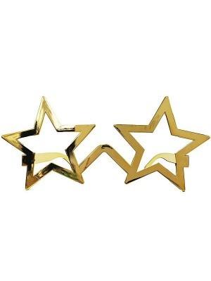 Shiny Gold Star Frame Sunglasses
