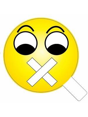 Shut Up Emoji Photo Booth Prop
