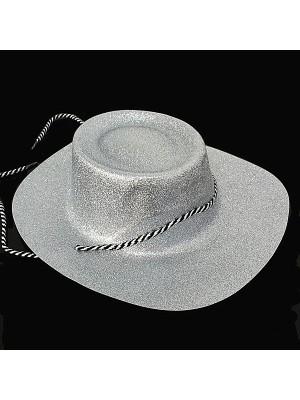 Silver Glitzy Cowboy Hat