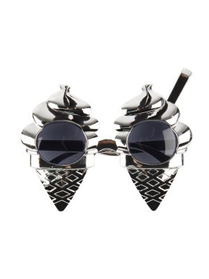 Silver Mr Whippy Ice Cream And Flake Sunglasses