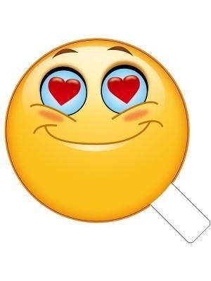 Love Eyes Emoji Photo Booth Prop