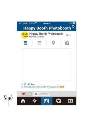 CUSTOM Social Media Style Selfie Posing Frame – Style 1