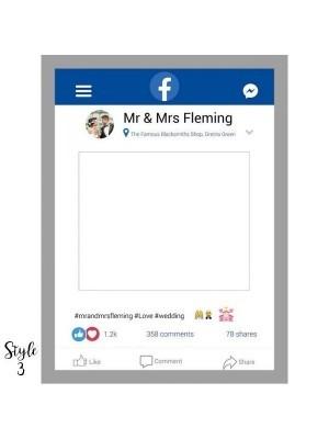 CUSTOM Social Media Style Selfie Posing Frame – Style 3