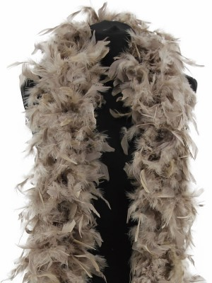 Deluxe Stone Grey Feather Boa – 100g -180cm