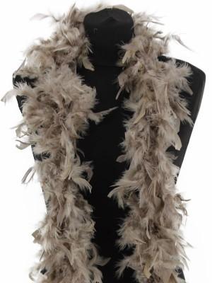 Beautiful Stone Grey Feather Boa – 50g -180cm