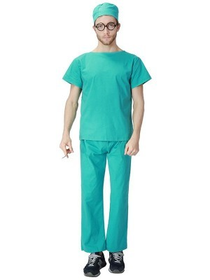 Surgeon Scrubs Male Fancy Dress Costume