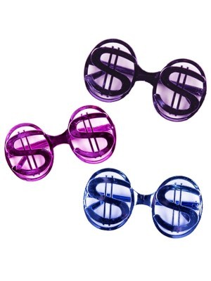 Pack of 3 Various Colour US Dollar Glasses