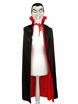 Vampire Mask And Cloak Halloween Set