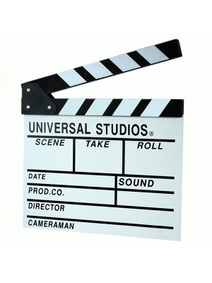 White Director's Clapperboard