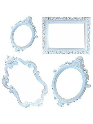 Set of 4 white Antique Style Posing Frames
